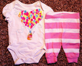 Girl's Size 0-3 M Months Two Pc Children's Place White Bear Top & Stripe... - $15.00