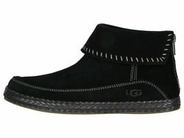 UGG Varney Black Women's Suede Moccasin Ankle Boho Booties 1104653 - $113.00