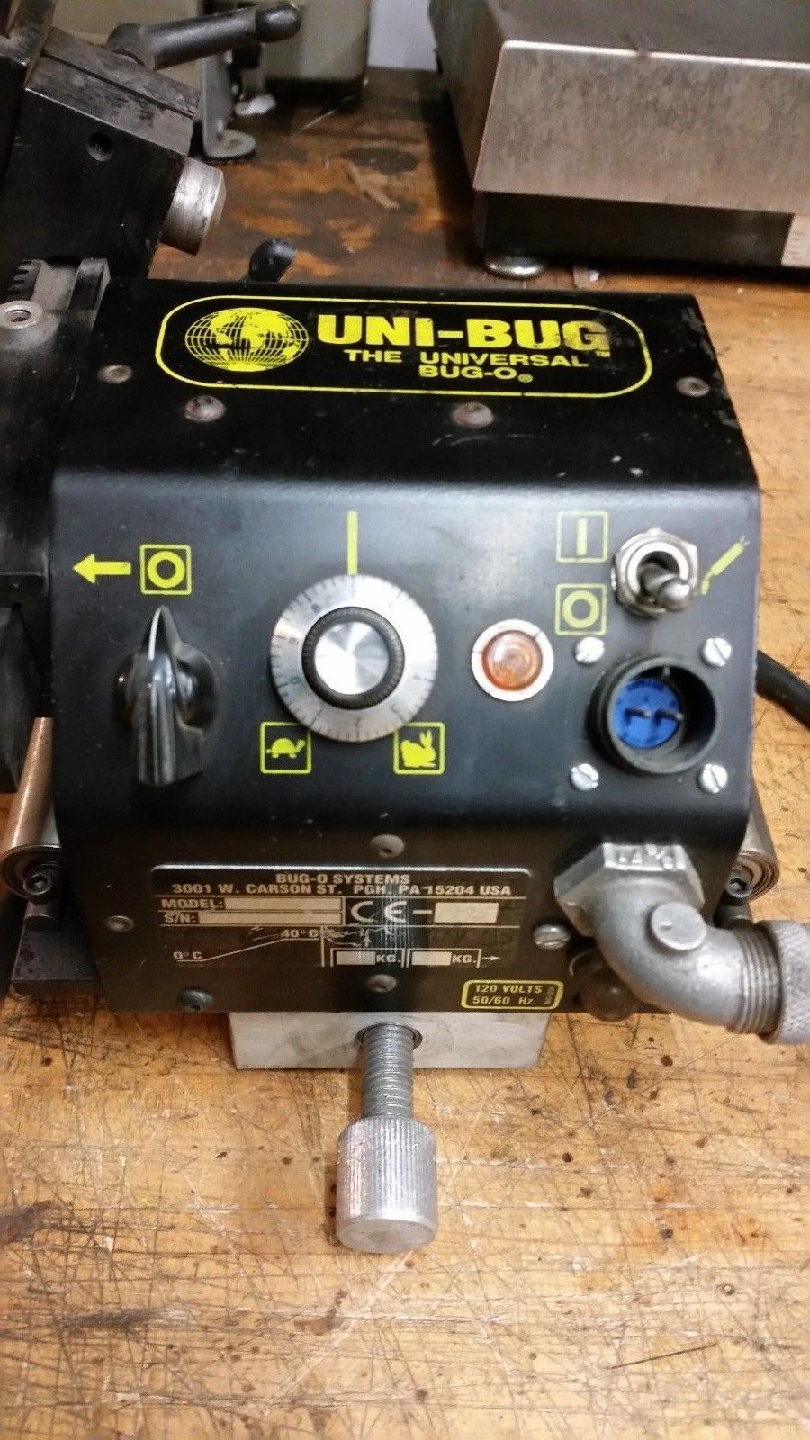 Bug-o Uni-Bug mig welding cutting track tractor motorized torch carrier robot