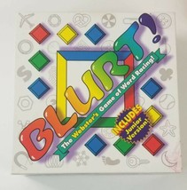 BLURT! GAME The Websters Board Game of Word Racing with Junior Version - $14.01