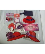 Red Hat Society Ladies' Gift Set Coin Purse Luggage Tag Folding Fan Magnet - $47.19