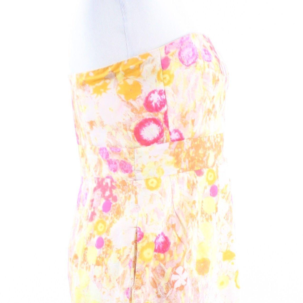 Multicolor floral print 100% cotton J. CREW sun dress 6 image 6