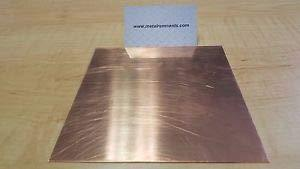 "JumpingBolt 1/4"" Copper Sheet Metal Plate 4"" x 4"" Material May Have Surface Scra"