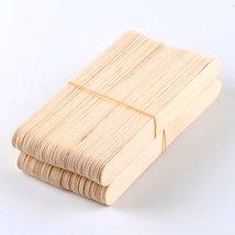 100 Large Wax Waxing Wood Body Hair Removal Craft Sticks Applicator Spatula image 6