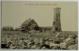 Divided Back Postcard Old Scituate Light Lighthouse, Scituate Harbor, MA... - $19.55