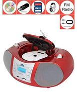 Boytone BT-6R CD Boombox Red Metallic color Edition Portable Music Syste... - $101.06