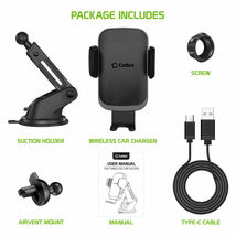 Cellet QI Wireless Fast Charge Phone Mount Dashboard Air Vent for iPhone Note 10 image 8