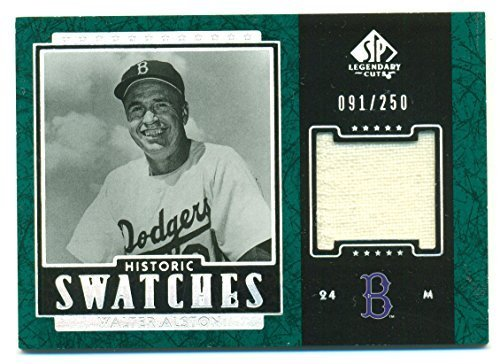 2003 SP Legendary Cuts Historic Swatches Walter Alston Jersey Card Serial No: 09