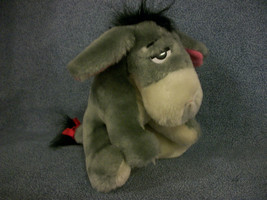 "Disney's Eeyore 6"" Mini Plush Designed For Sears Red Bow On Tail - $2.48"