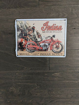 """12"""" Model 101 Indian Scout MOTOR 3d cutout retro USA STEEL plate display ad Sign - $48.99"""