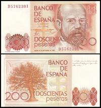 Spain 200 Pesetas, 1980, P-156, UNC - $9.99