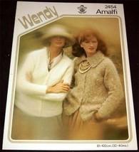 Wendy Amalfi Lady's Classic Cardigan Pattern 2454 - $3.77
