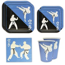 Blue Orchards Karate Standard Party Packs 65+ Pieces for 16 Guests!, Kar... - $465,55 MXN