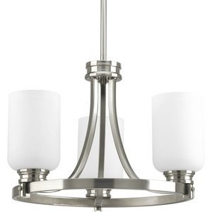 Primary image for Progress Lighting P3954-09 Orbitz Collection 3-Light Semi-Flushmount, Brushed Ni