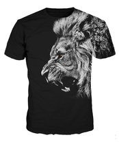 Hip Hop T Shirt 3d Animals Lion/tiger/panda/cat/dog Print Mens 3d T-shirt Casual