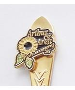 Collector Souvenir Spoon Canada Ontario Arthur Homecoming 1995 Sunflower - $4.99