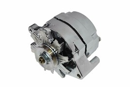 SB Ford 65-89 Mechanical Fuel Pump Two Valve M1G Style Alternator 110 Amp Chrome image 2