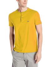 New Lacoste Men's Short Sleeve Henley Jersey Pima Cotton Regular Fit T-Shirt image 4