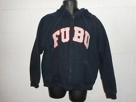 Vintage Fubu Spell Out Zip Up Hoodie Hooded Sweatshirt XL - $19.99