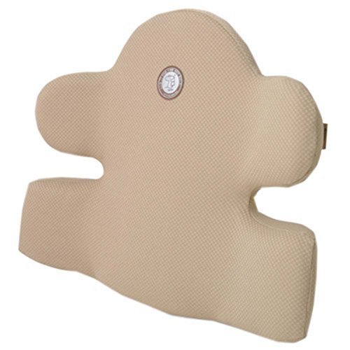 Comfortable Car Seat Cushion Soft Back Support Lumbar Support Back Brace Beige