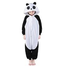 NEWCOSPLAY Unisex Children Cute Panda Pyjamas Halloween Costume 5-Height... - $28.39
