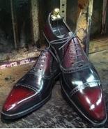 Goodyear Welted Men's Black Red Leather Formal Shoes Designer Oxford Dre... - $149.99+