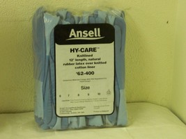 "Ansell Hy-Care Latex Gloves 12"" Cuff Size 11 XXXL Lot of 12 Pairs 62-400 - $43.55"