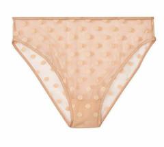 M Beige All Over Sheer Dot Mesh Victorias Secret No Show High-leg Cheeky... - $10.99