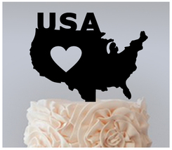 Wedding,Birthday Cake topper,Cupcake topper,silhouette USA love Package : 11 pcs - $20.00