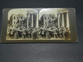 VINTAGE 1906  STEREOVIEW JESUS BEARING THE CROSS AMERICAN STEREOSCOPIC NY - $1.98