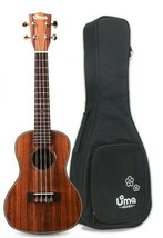 Uma Uk-15SC Solid Acacia Top Concert Ukulele with 20mm Deluxe Gig Bag - $152.46