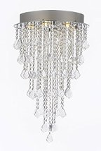 "Modern Contemporary Chandelier ""Rain Drop"" Chandeliers Lighting with Cry... - $282.24"
