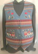 Blue Denim Country Vest, Bobbie Brooks, Womens Small (4-6), Farm Girl, P... - $12.50