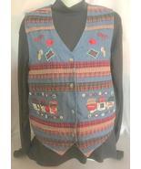 Blue Denim Country Vest, Bobbie Brooks, Womens Small (4-6), Farm Girl, P... - $12.50