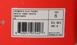 New Balance W6021WPK Womens Jojo Thong Pink White Gray Size 6 image 6