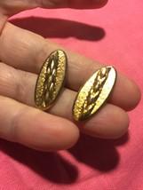 Grandmas Estate Shaft Of Wheat Gold Filled Unmarked Cuff Links Masonic (... - $13.16