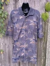 IZOD Men's Blue Double Mercerized 100% Cotton Polo Shirt ~ Size L - $6.90