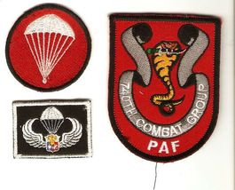 Philippines Air Force PAF 740th Combat Group Parachutist Wings & Cap Flash Patch - $16.99