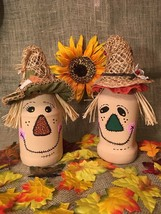 Holiday/Seasonal Thanksgiving Décor Scarecrows Fall/Autumn Upcycled Jars - $32.73