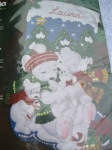 NEW Bucilla POLAR BEAR Stocking Kit Felt Applique Christmas 85311 Factory Sealed - $65.00