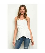 Front Ruched Off White Top - $25.00