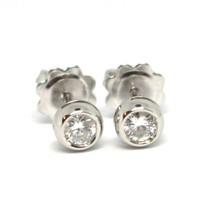 White Gold Earrings 750 18K, Diamonds, 0.35 Carat, Mount round Bushing image 1