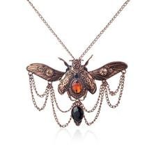 Vintage Beetle Steampunk Pendant Necklace - $59.95