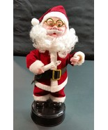Vintage 12 inch Animated Santa figure with Music in its original box - $4.99
