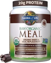 Meal Replacement Powder 14 Servings Organic Raw Plant Protein Powder Chocolate - $28.99