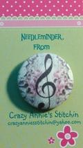 Music Note Needleminder fabric cross stitch needle accessory - $7.00