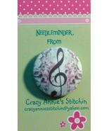 Music Note Needleminder fabric cross stitch nee... - $7.00