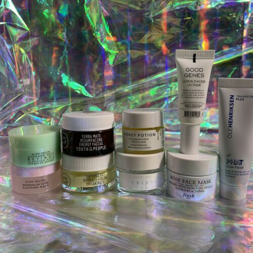 9x 5/10/15mL Face Masks Herbivore Sunday Riley Youth To The People PHAT skincare