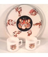 VINTAGE ESSON EXXON TIGER IN YOUR TANK FIRE KING COFFEE MUGS SERVING TRA... - $24.95