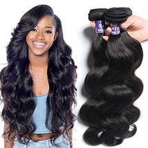 Semmely 8A Brazilian Body Wave Human Hair 3 Bundles Virgin Hair Weave 12 14 16in